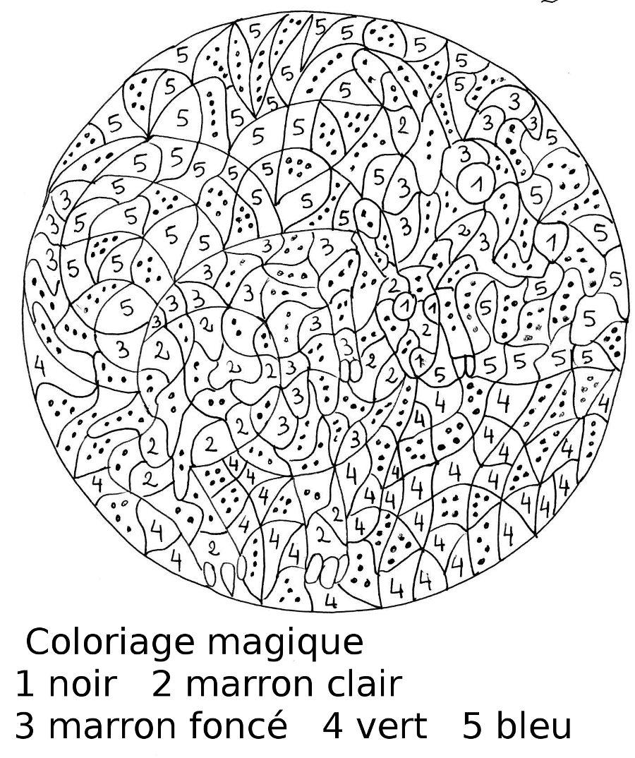 Coloriage Magique - Les Beaux Dessins De Autres À Imprimer avec Coloriage Magique Dur