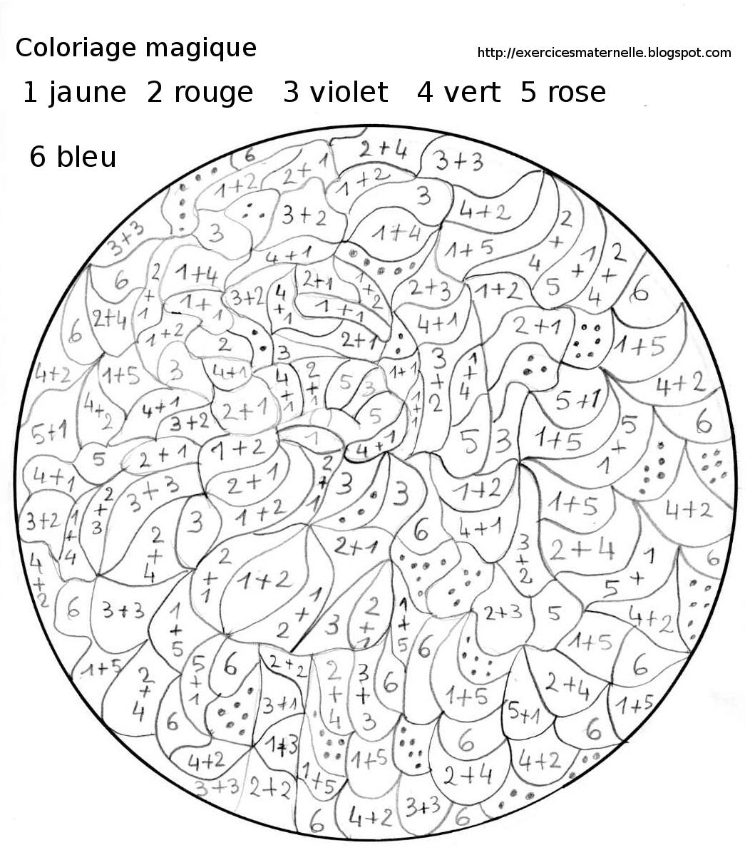 Coloriage Magique - Les Beaux Dessins De Autres À Imprimer destiné Coloriage Magique Dur