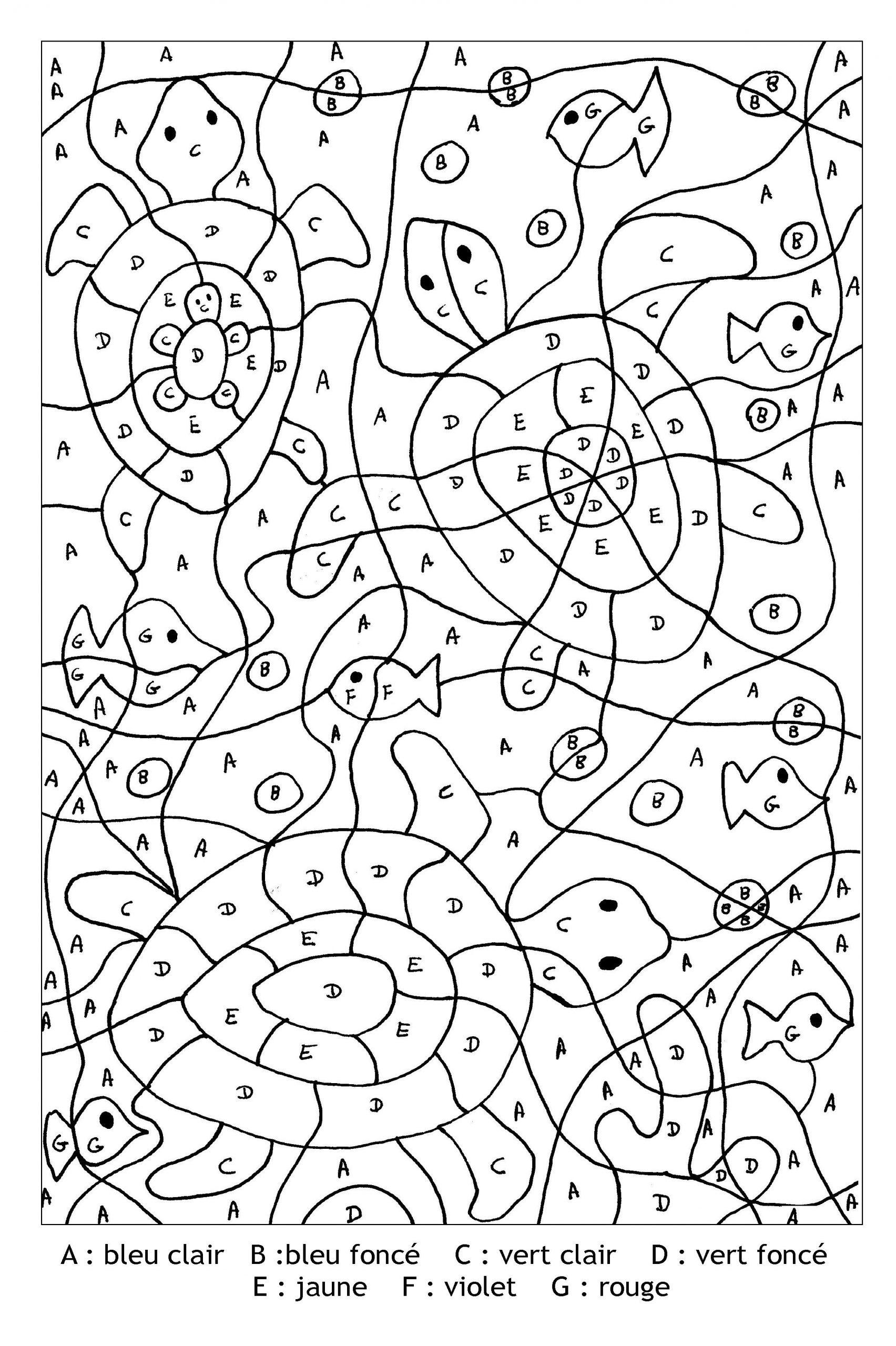 Coloriage-Magique-Lettres-Tortues | Coloriage Magique À destiné Coloriage Magique Maternelle A Imprimer Gratuit
