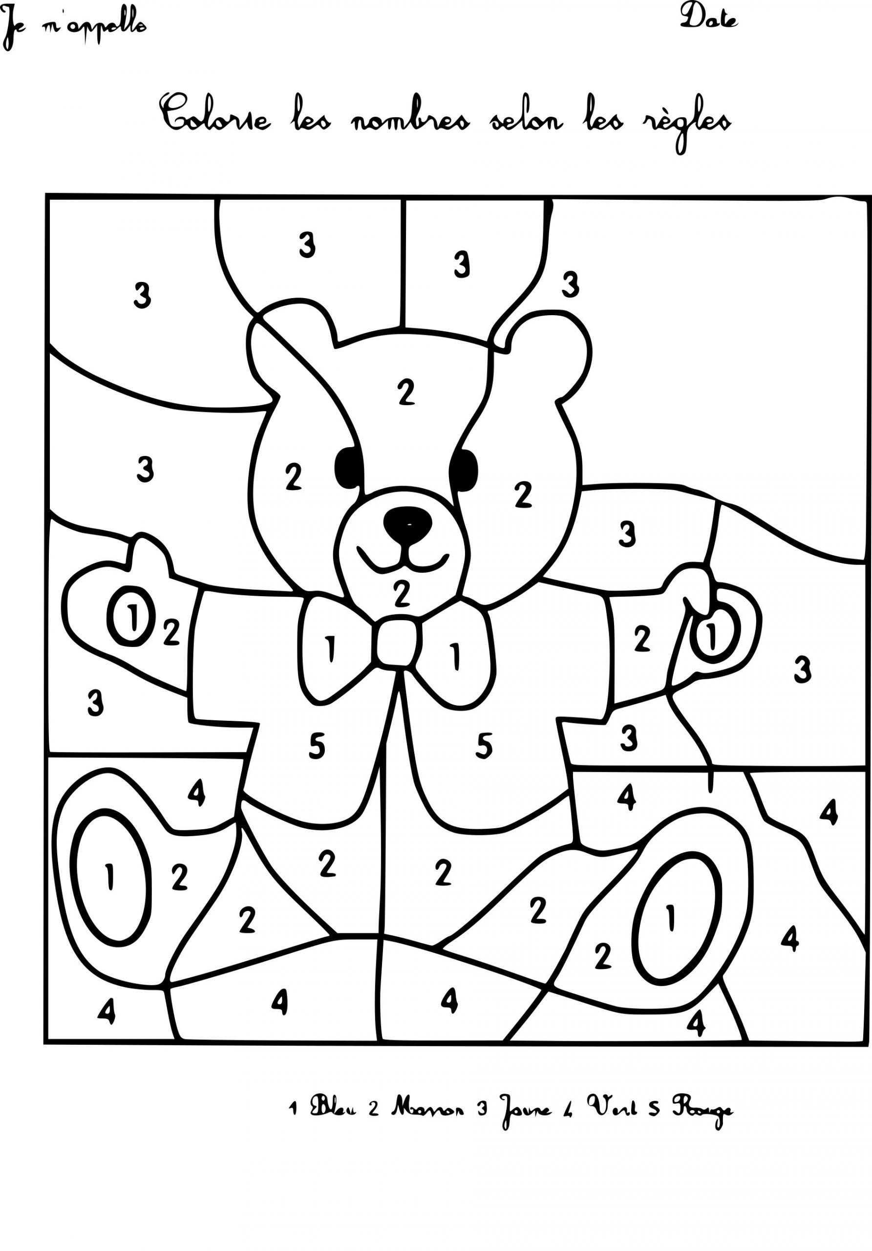 Coloriage Magique Maternelle À Imprimer à Coloriage Codé Maternelle
