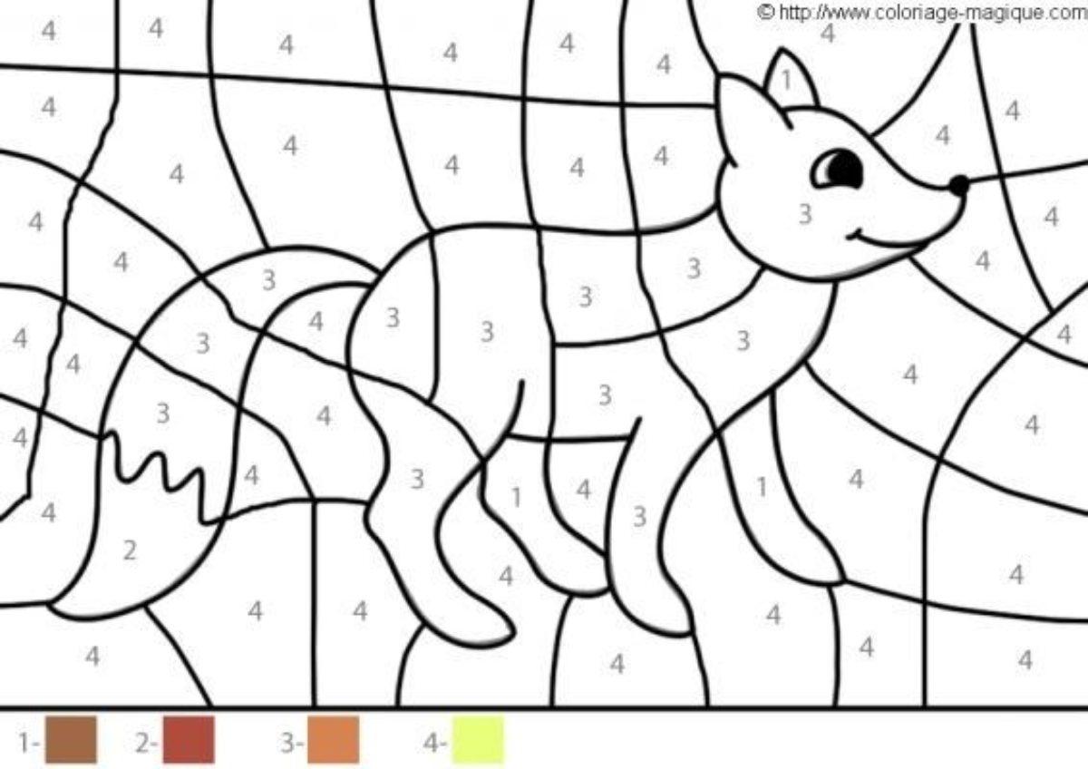 Coloriage Magique Maternelle Renard | Coloriages À Imprimer avec Coloriage Magique Français Cp