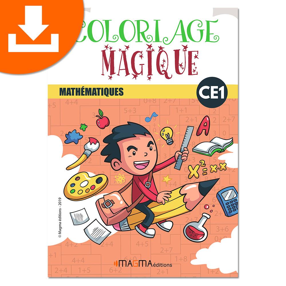 Coloriage Magique Mathématiques Ce1 Magma Éditions - Produit Téléchargeable concernant Coloriage Codé Cp