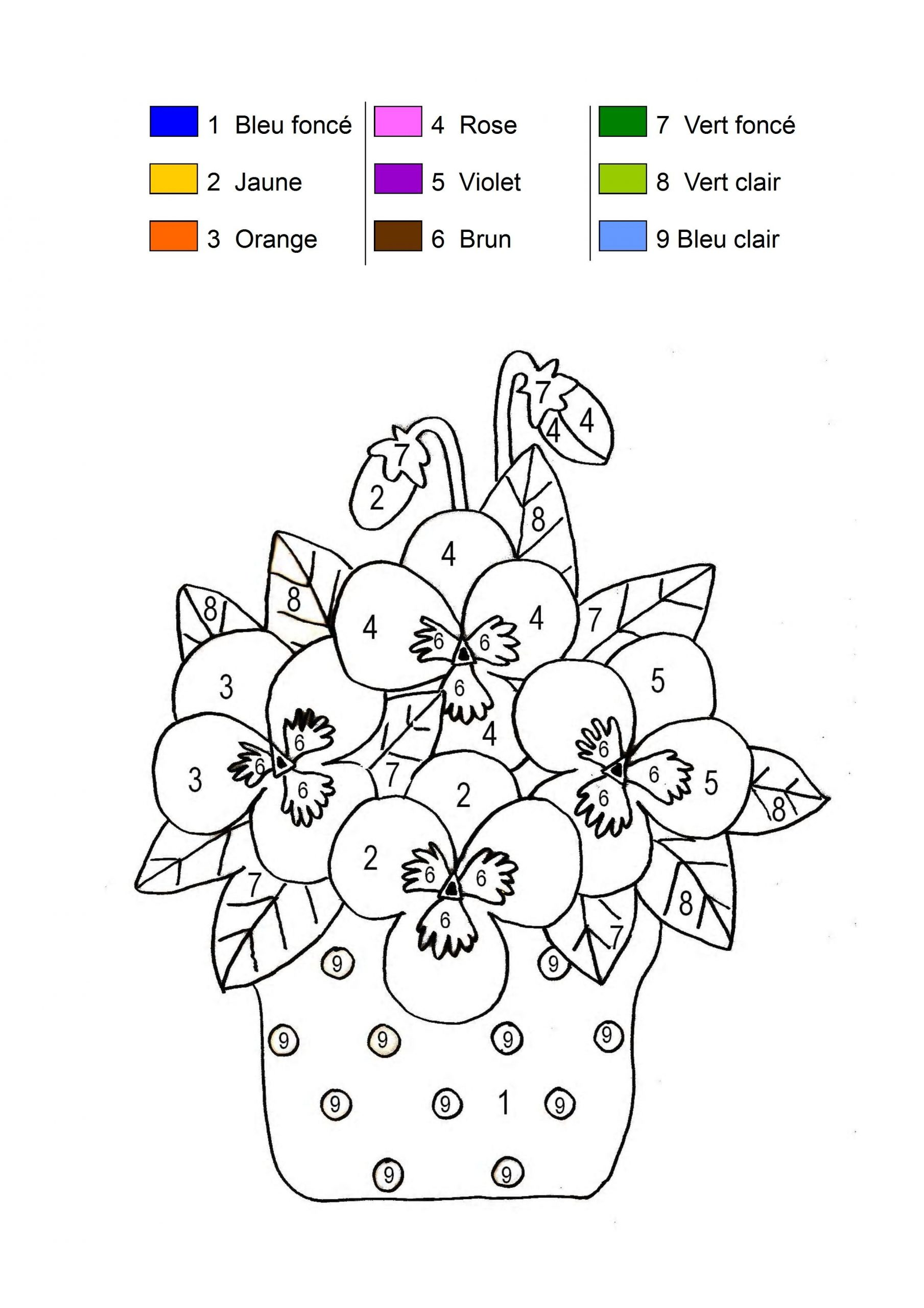 Coloriage Magique pour Coloriage Codé Moyenne Section