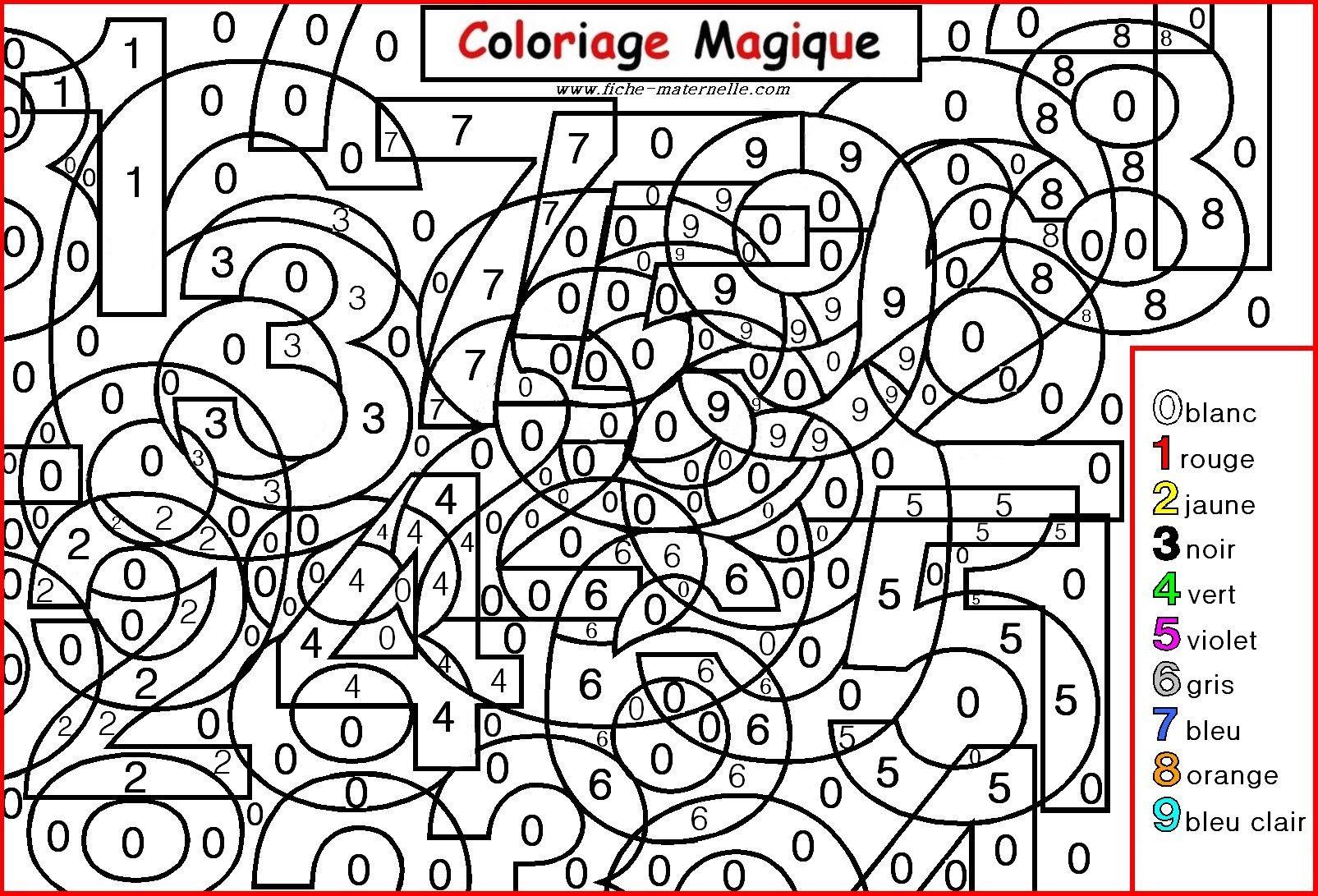 Coloriage Magique Pour Les Plus Petits : Les Chiffres encequiconcerne Coloriage Numero A Imprimer