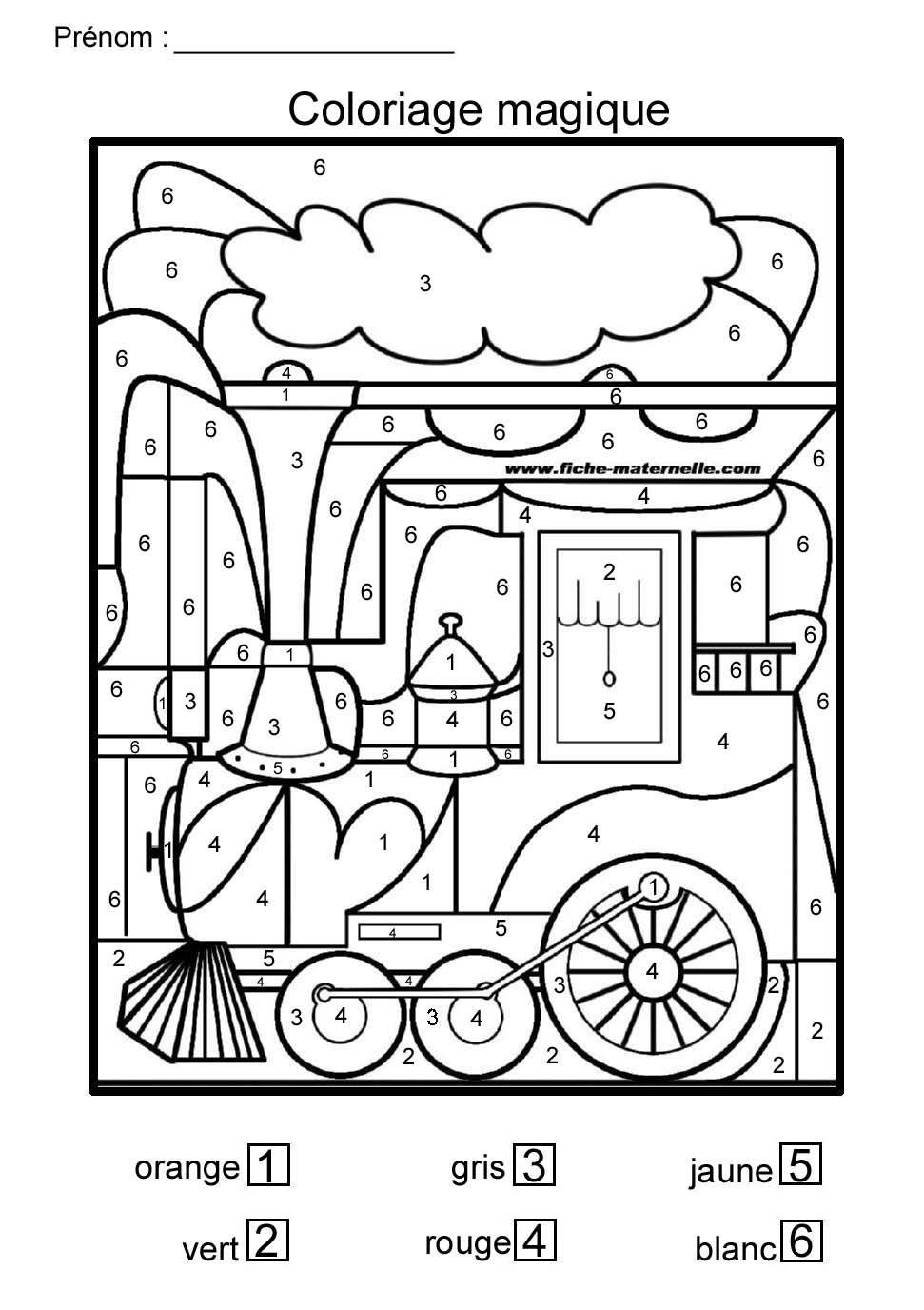 Coloriage Magique Pour Moyenne Section Et Grande Section avec Coloriage Codé Maternelle