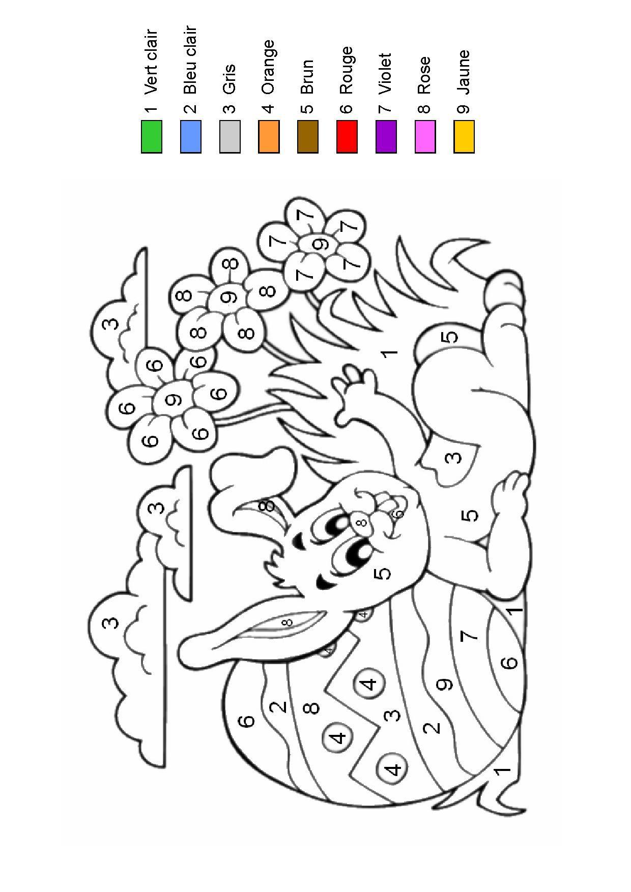 Coloriage Magique serapportantà Coloriage Codé Maternelle