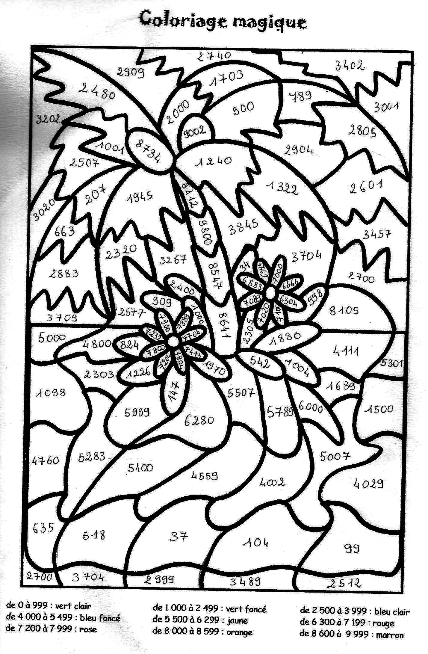 Coloriage Magique Soustraction À Colorier - Dessin À dedans Coloriage Numero A Imprimer
