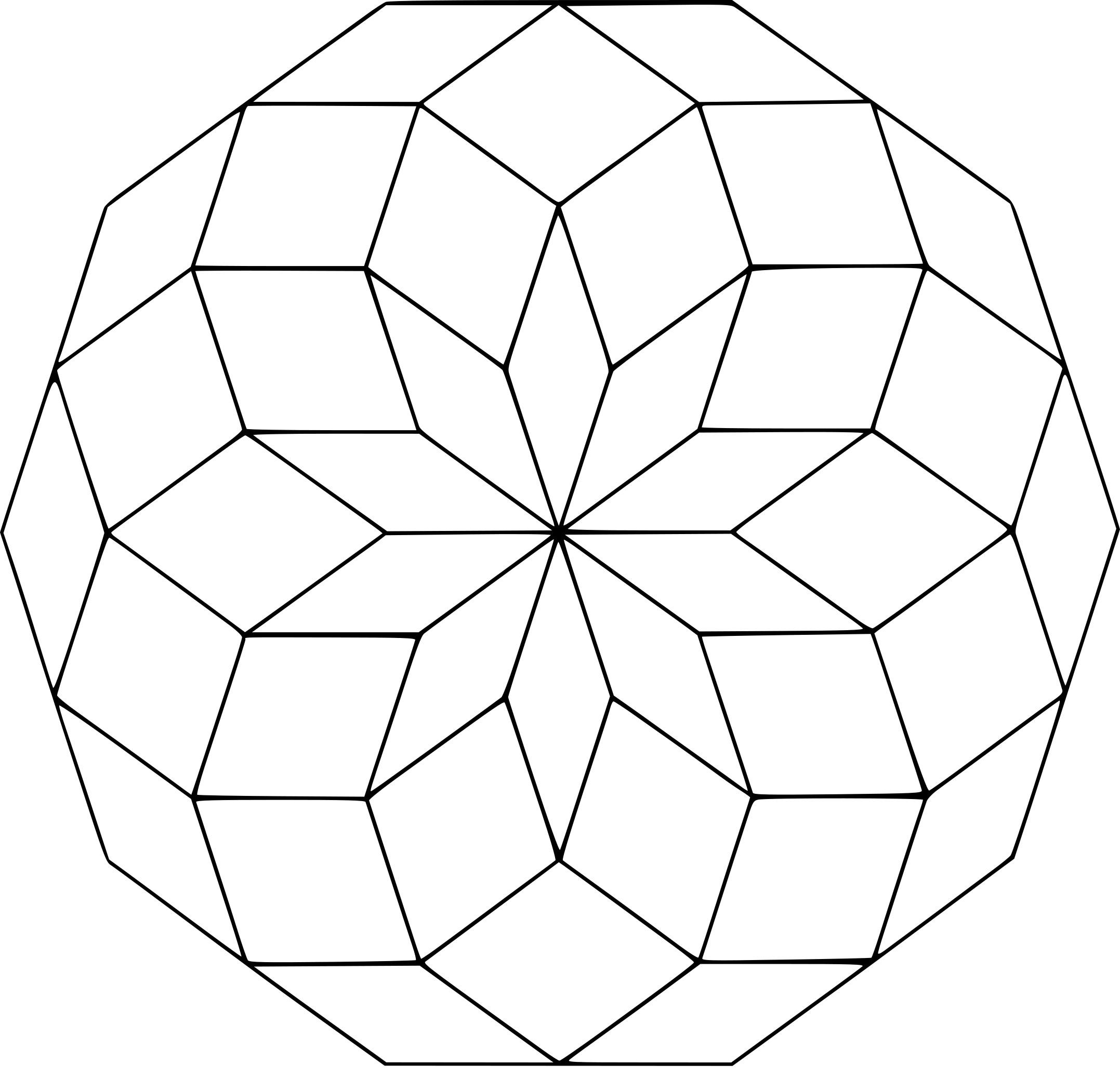 Coloriage Mandala 3D À Imprimer intérieur Coloriage De Mandala Difficile A Imprimer