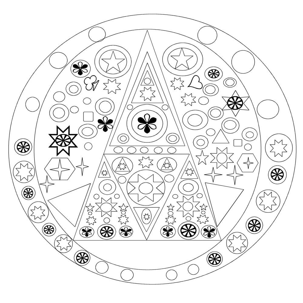 Coloriage Mandala À Imprimer destiné Jeux De Coloriage De Rosace