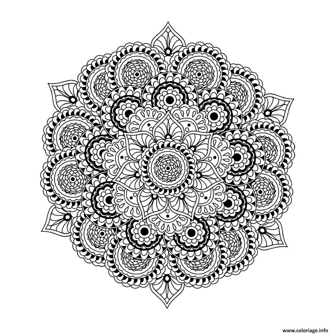 Coloriage Mandala À Imprimer Difficile | Coloriages À à Mandala À Imprimer Facile