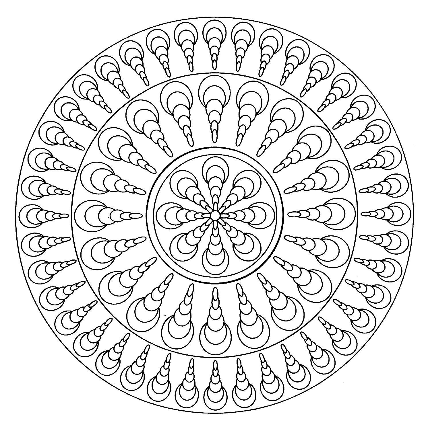 Coloriage Mandala Adulte Facile | Coloriages À Imprimer Gratuits encequiconcerne Mandala À Imprimer Facile
