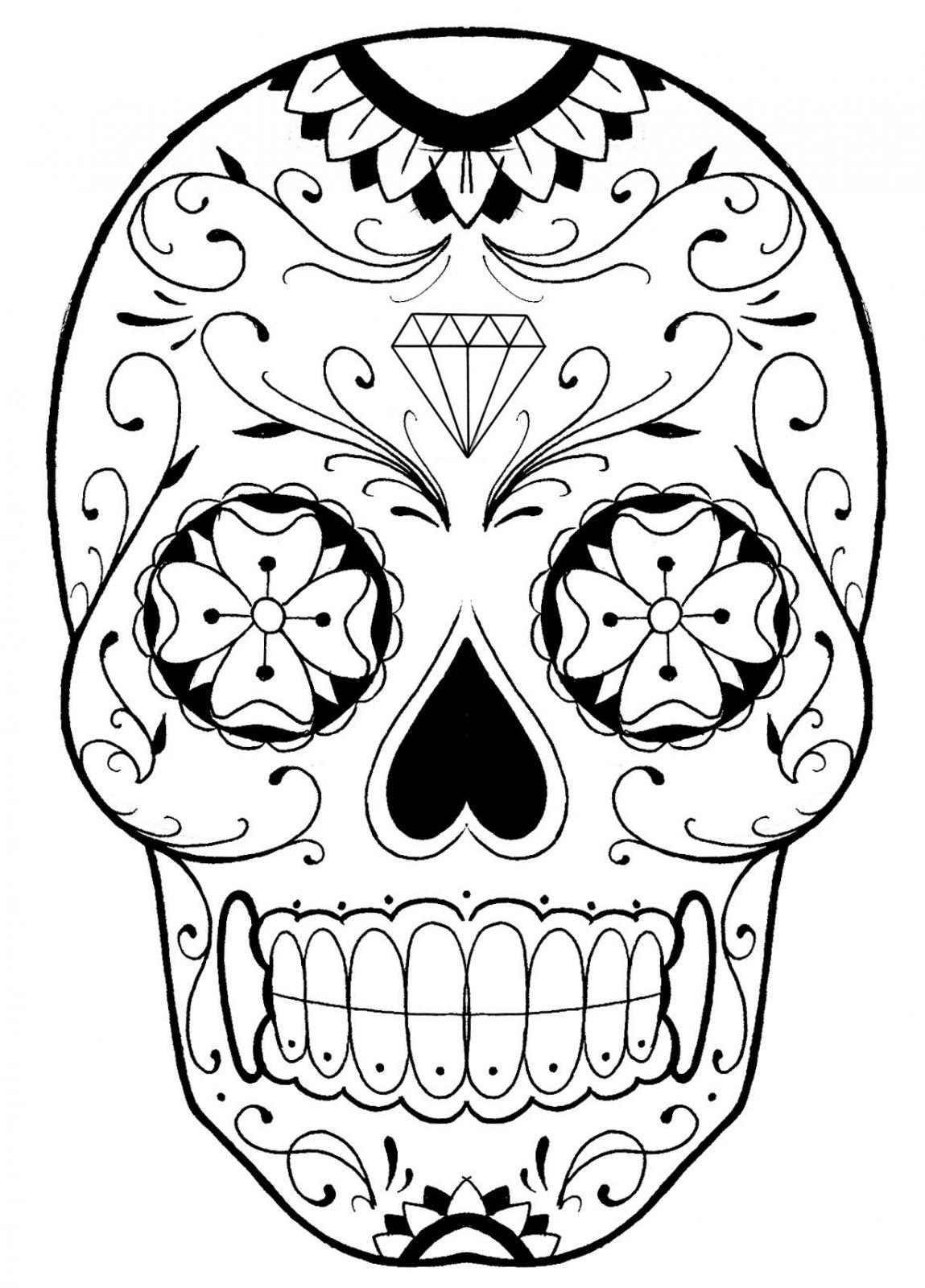 Coloriage Mandala Adulte Tete De Mort | Coloriages À encequiconcerne Tete Spiderman A Imprimer
