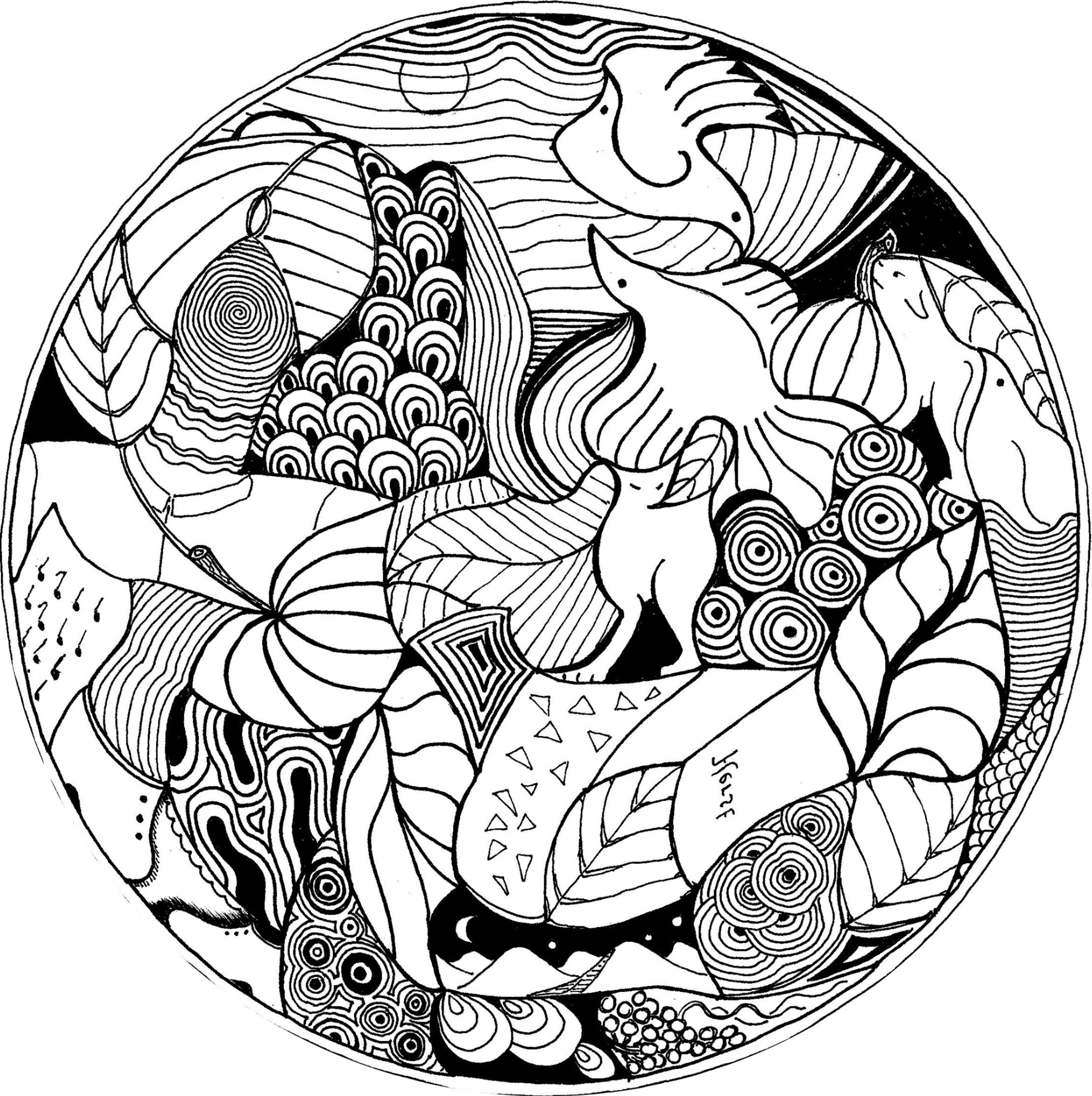 Coloriage Mandala Animaux encequiconcerne Coloriage De Mandala Difficile A Imprimer