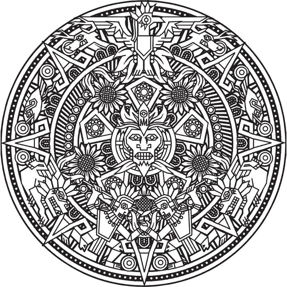Coloriage Mandala Anti-Stress – Coloriage Art-Thérapie intérieur Rosace A Imprimer