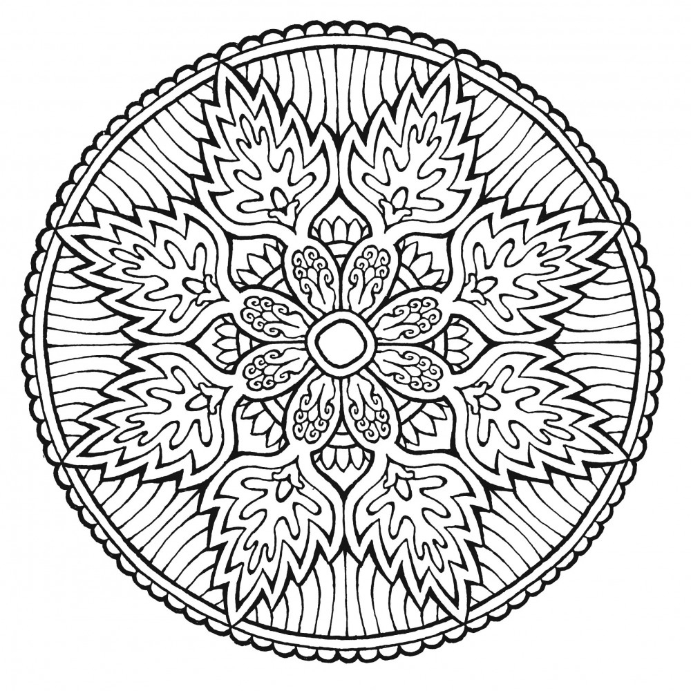 Coloriage Mandala Anti-Stress – Coloriage Art-Thérapie serapportantà Coloriage De Mandala Difficile A Imprimer