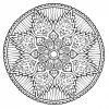 Coloriage Mandala Anti-Stress – Coloriage Art-Thérapie serapportantà Mandala À Colorier Adulte