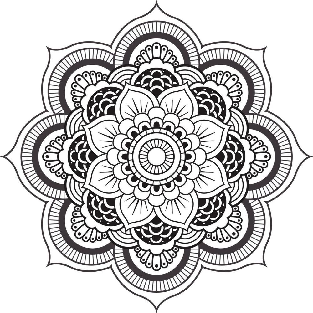 Coloriage Mandala Anti-Stress – Coloriage Art-Thérapie serapportantà Rosace A Imprimer