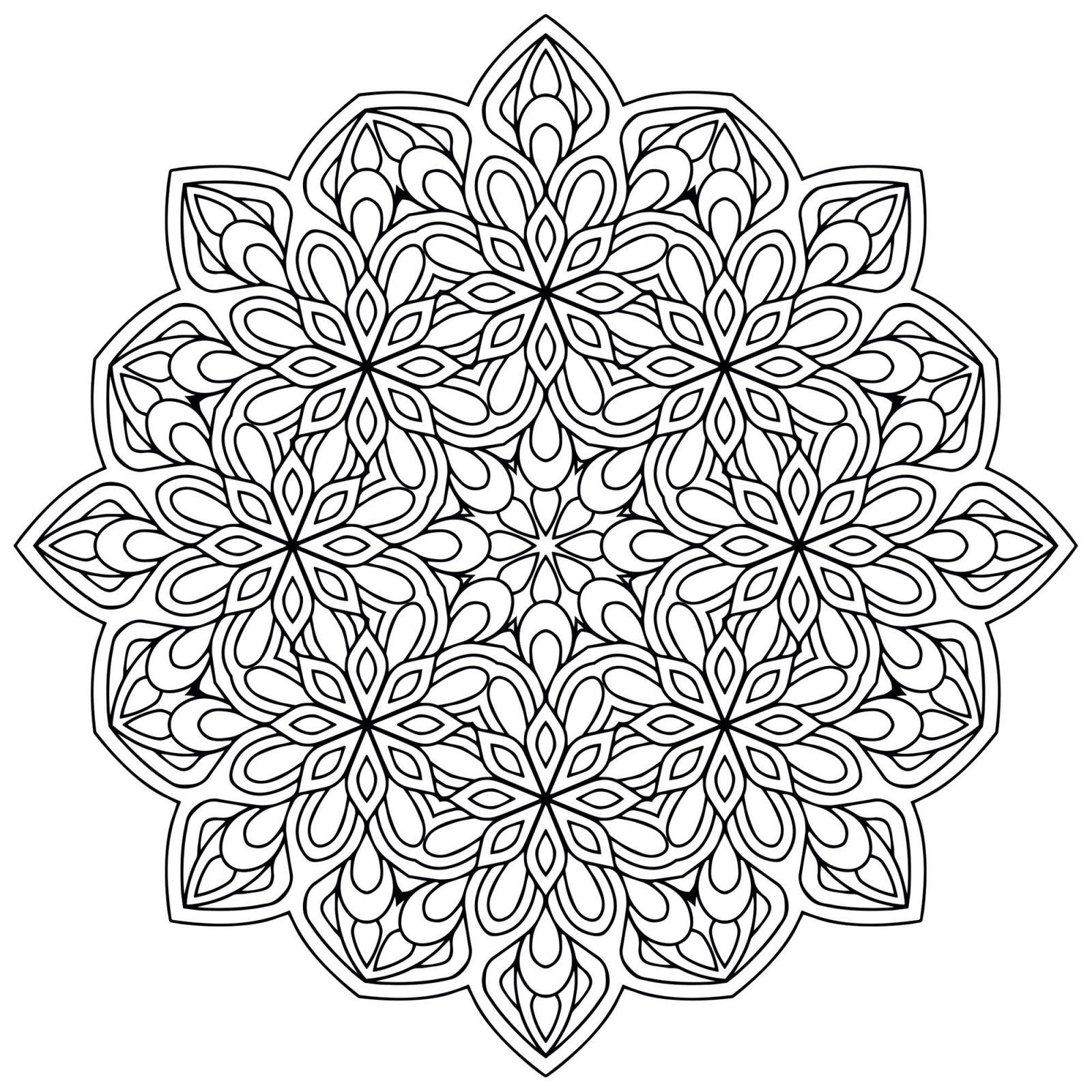 Coloriage Mandala Anti Stress   Coloriages À Imprimer Gratuits dedans Coloriage De Mandala Difficile A Imprimer