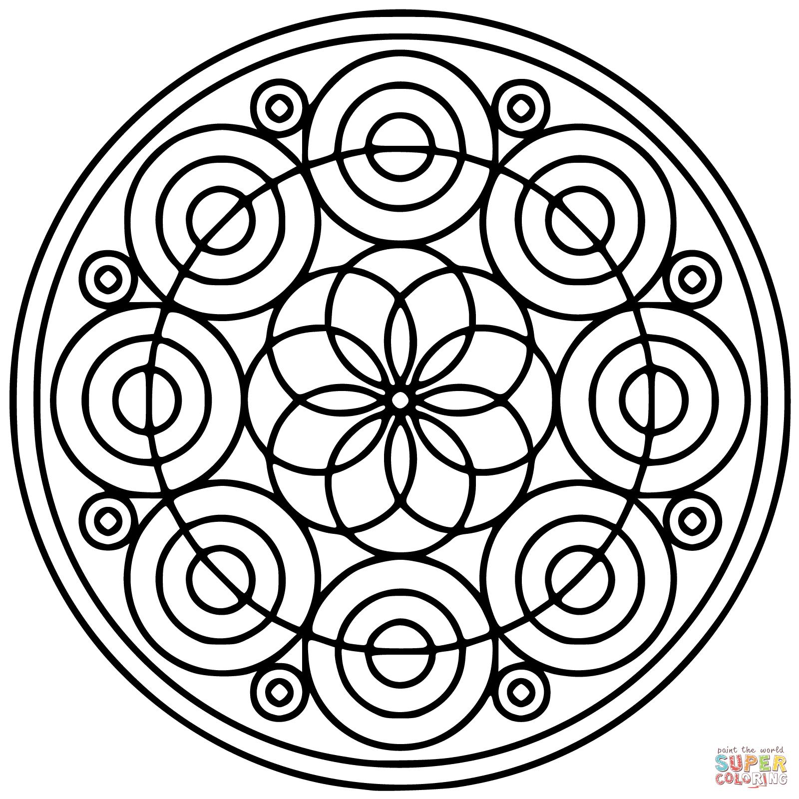 Coloriage - Mandala Cercle | Coloriages À Imprimer Gratuits encequiconcerne Mandala Facile À Imprimer