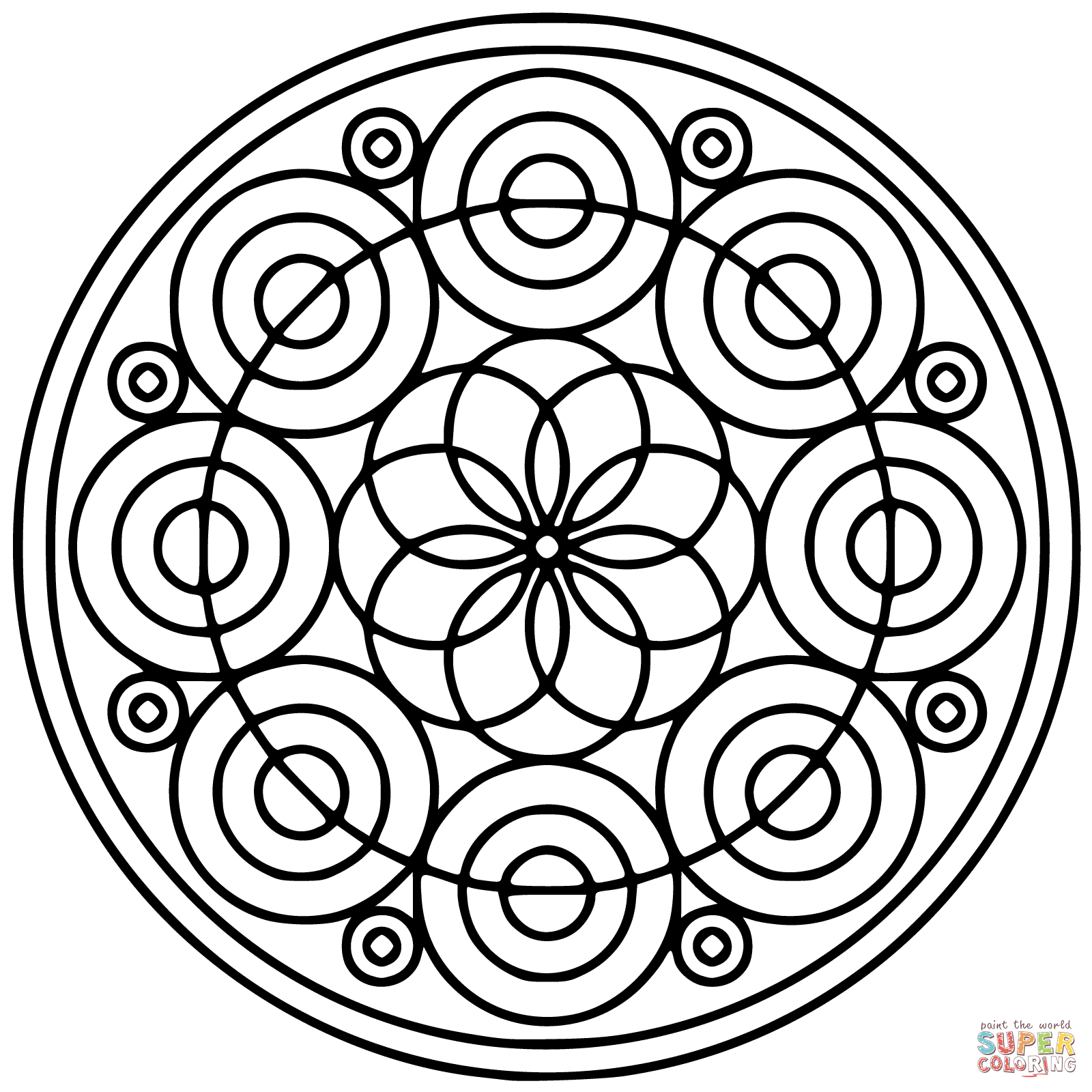 Coloriage - Mandala Cercle | Coloriages À Imprimer Gratuits tout Mandala À Imprimer Facile