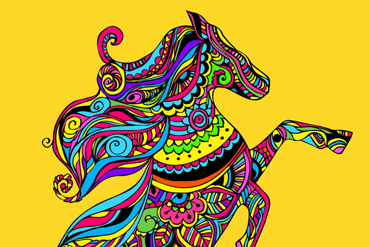 Coloriage Mandala Cheval Sur Hugolescargot avec Hugo L Escargot Coloriage Mandala