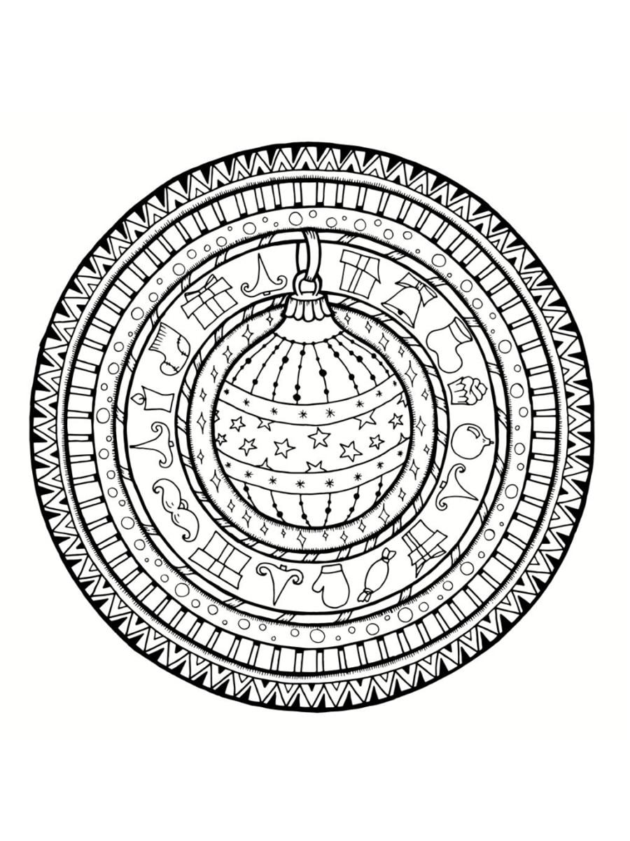 Coloriage Mandala De Noël : 30 Dessins À Imprimer concernant Mandala À Colorier Et À Imprimer Gratuit