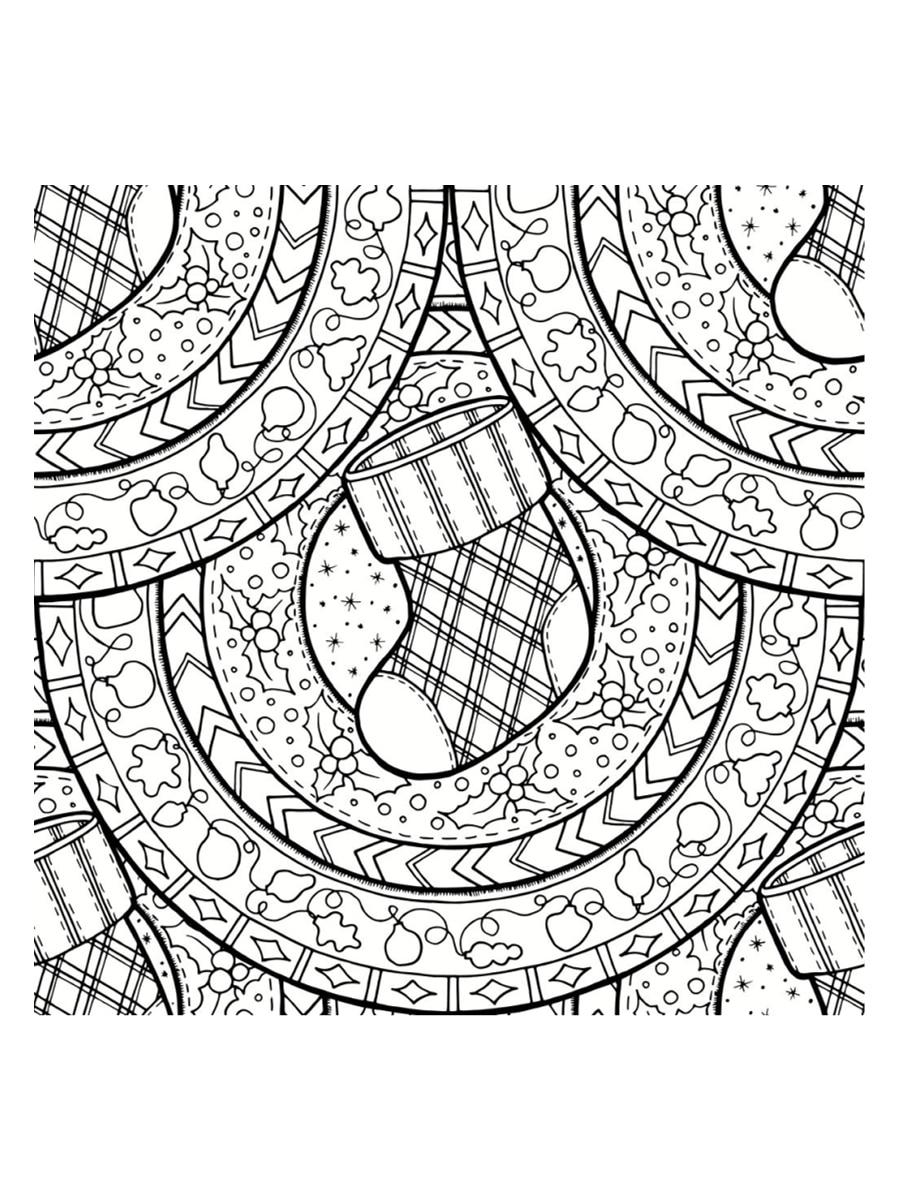 Coloriage Mandala De Noël : 30 Dessins À Imprimer dedans Coloriage De Mandala Difficile A Imprimer