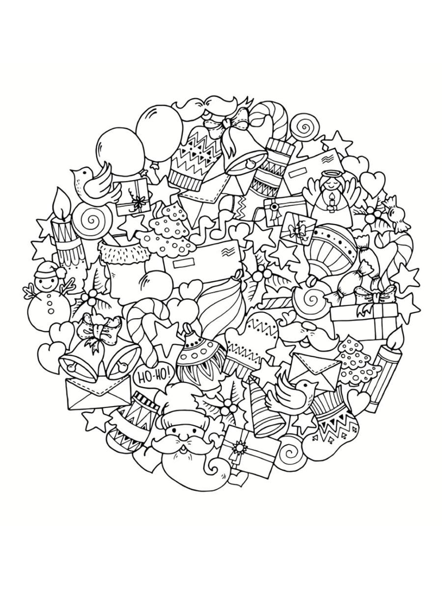 Coloriage Mandala De Noël : 30 Dessins À Imprimer intérieur Dessiner Un Mandala