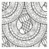 Coloriage Mandala De Noël : 30 Dessins À Imprimer serapportantà Mandala À Colorier Adulte