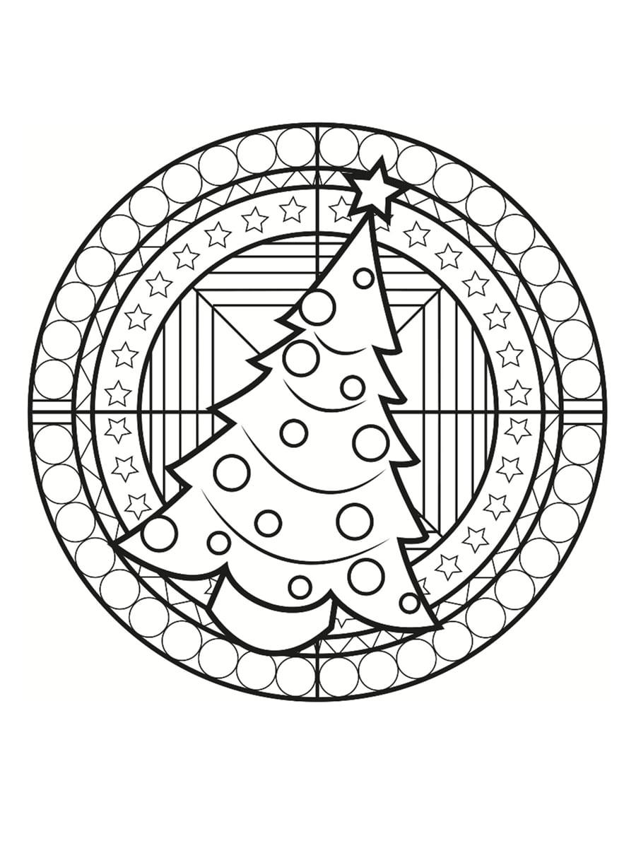 Coloriage Mandala De Noël : 30 Dessins À Imprimer tout Jeux De Coloriage De Rosace