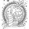 Coloriage Mandala De Noël. Livre De Coloriage Adultes. Décor pour Mandala À Colorier Adulte
