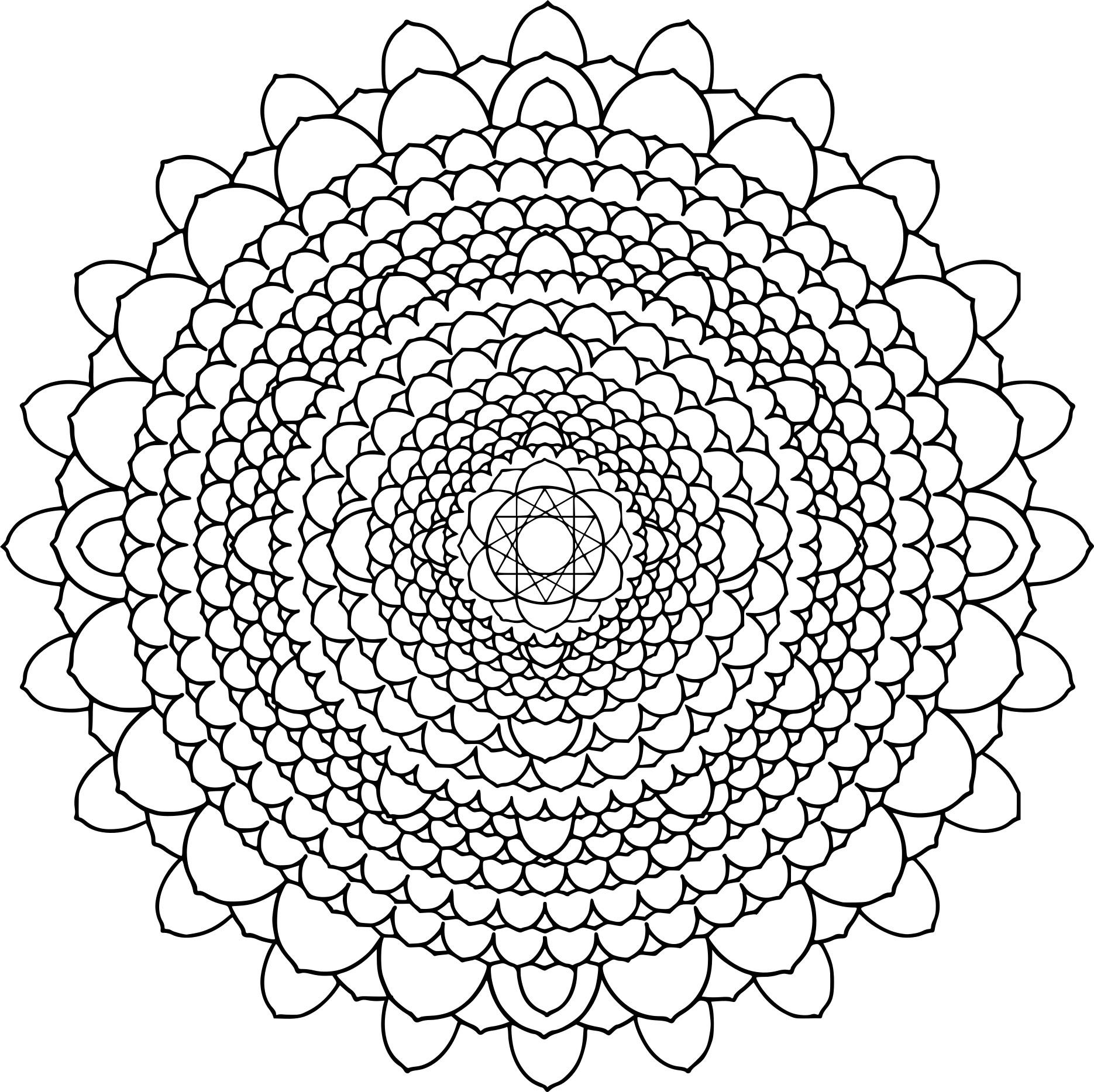 Coloriage Mandala Difficile Dessin À Imprimer Sur Coloriages pour Coloriage De Mandala Difficile A Imprimer