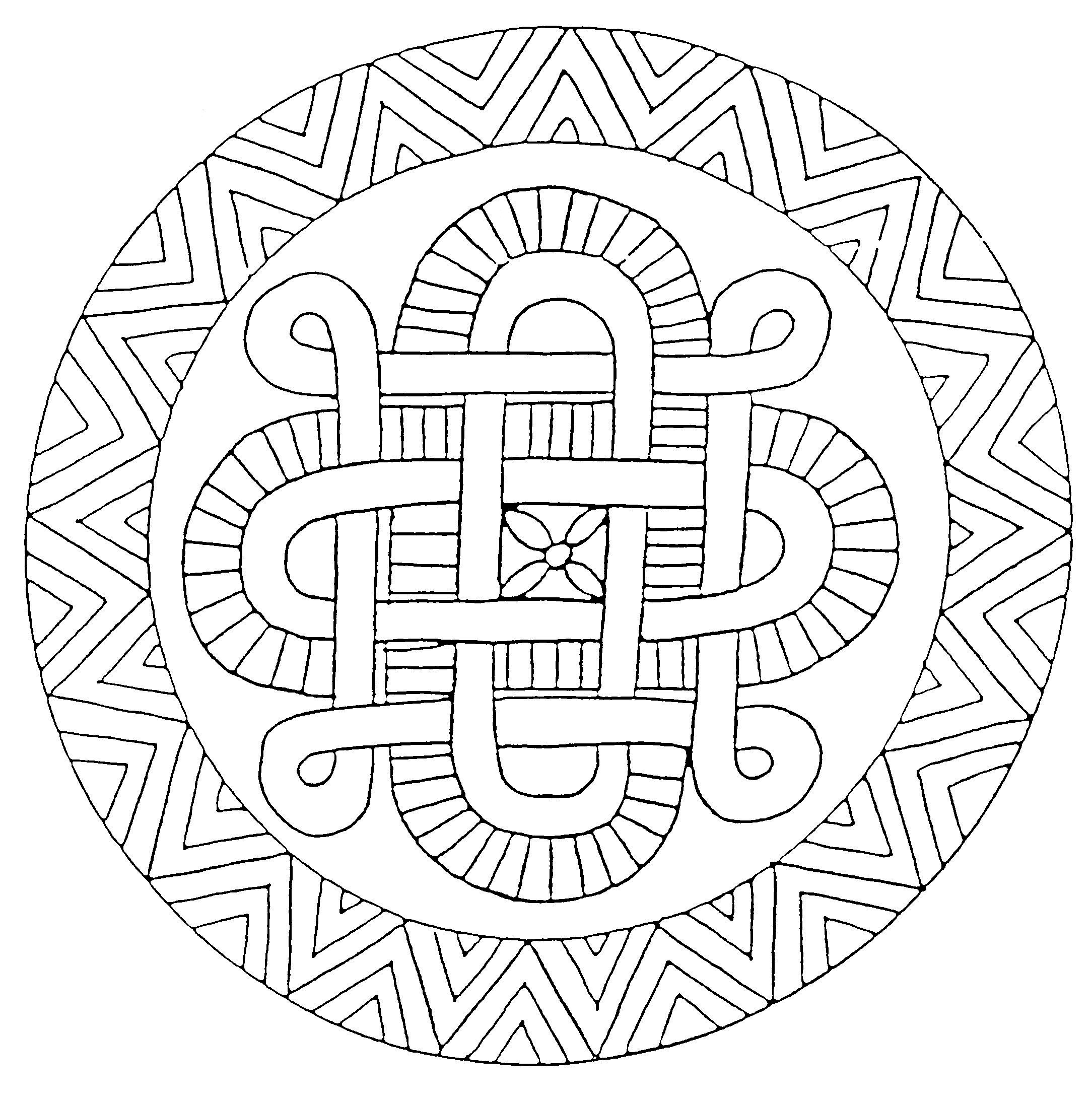 Coloriage Mandala Difficile Hugo L'escargot tout Hugo L Escargot Coloriage Mandala