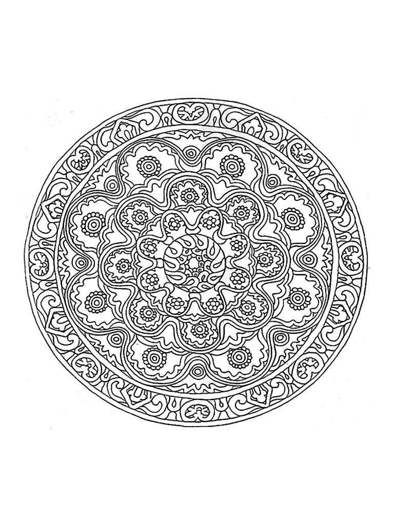 Coloriage Mandala Difficile - Les Beaux Dessins De Meilleurs concernant Coloriage De Mandala Difficile A Imprimer
