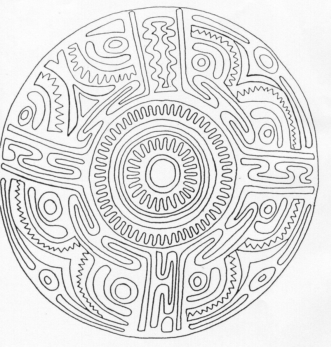 Coloriage Mandala Difficile - Les Beaux Dessins De Meilleurs destiné Dessiner Un Mandala