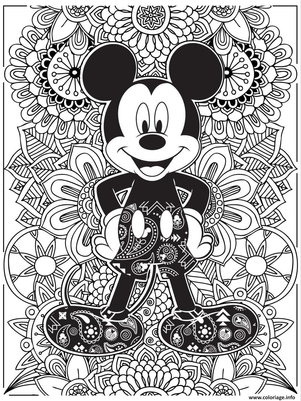 Coloriage Mandala Disney Mickeymouse Hd Dessin à Mandala À Colorier Et À Imprimer Gratuit