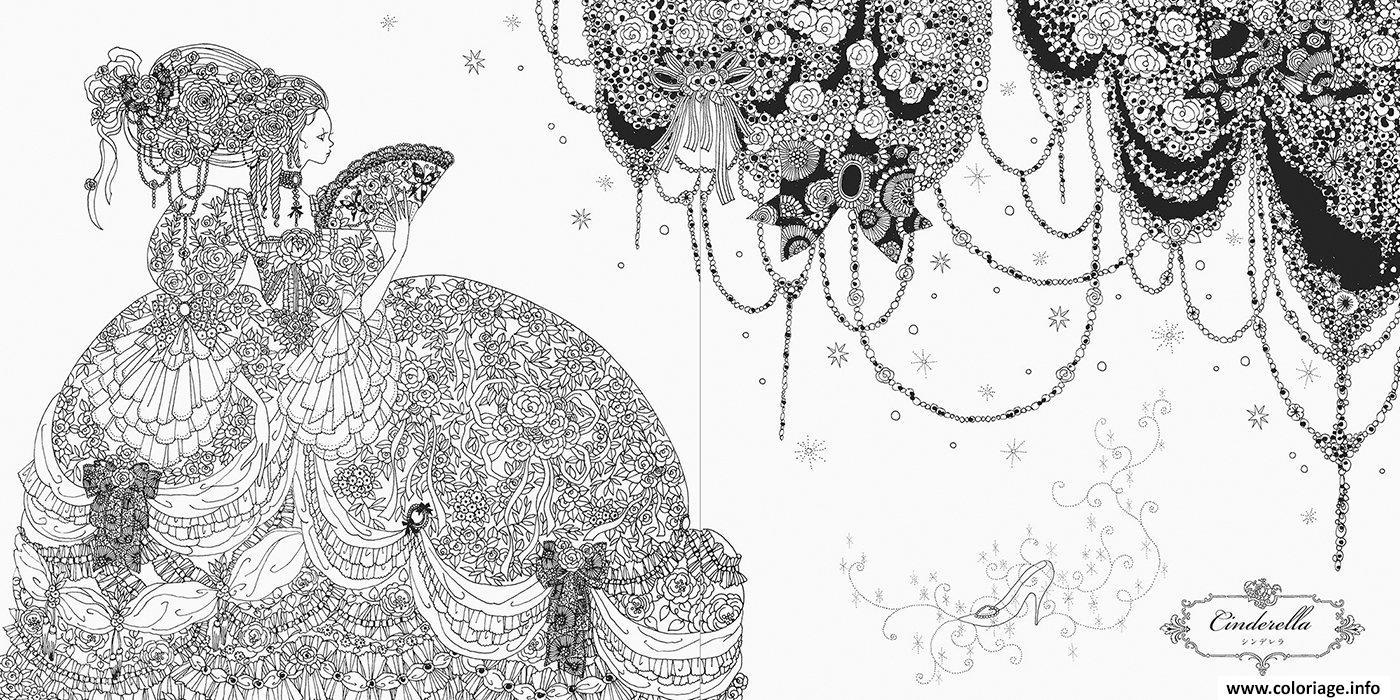 Coloriage Mandala Disney Princesse Cendrillon Dessin avec Cendrillon Dessin A Imprimer