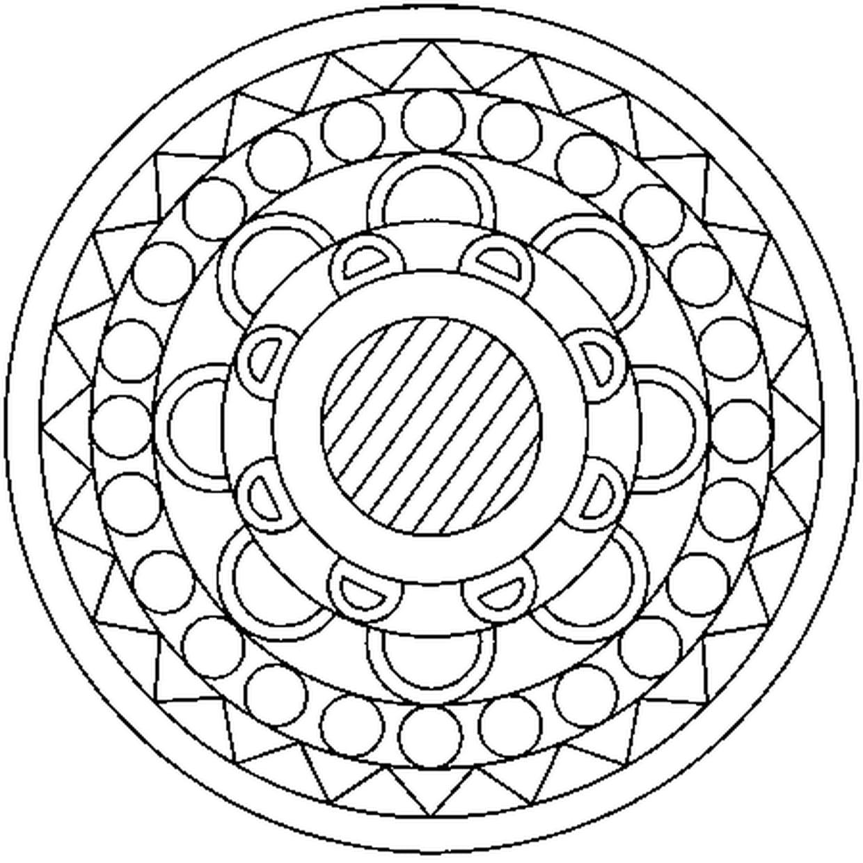 Coloriage Mandala En Ligne Gratuit À Imprimer intérieur Jeux De Coloriage De Rosace