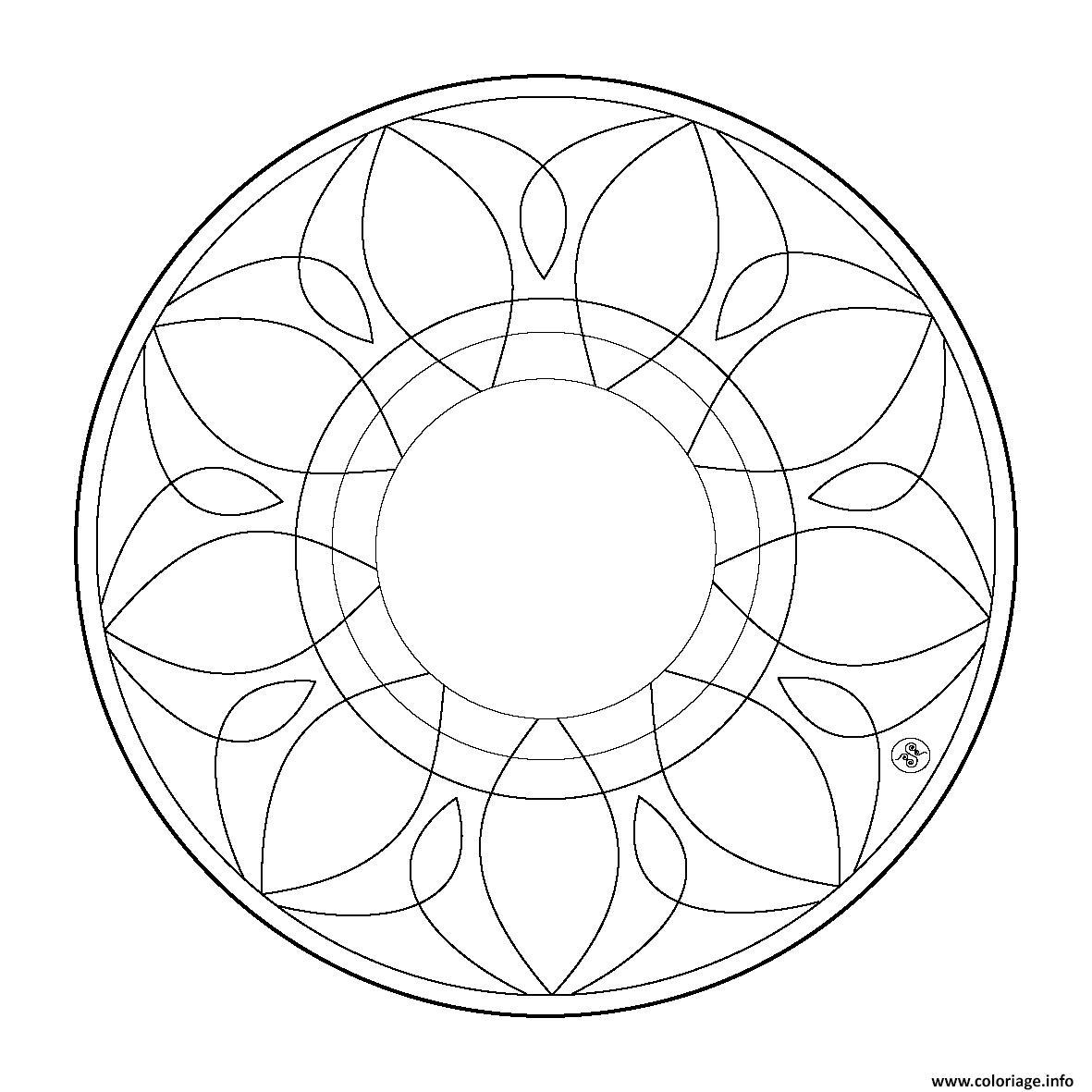 Coloriage Mandala Facile 126 Dessin avec Mandala Facile À Imprimer