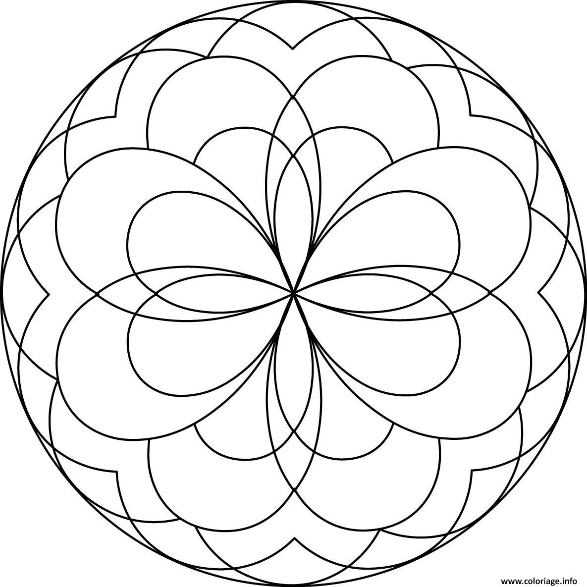 Coloriage Mandala Facile 60 Dessin à Mandala À Imprimer Facile