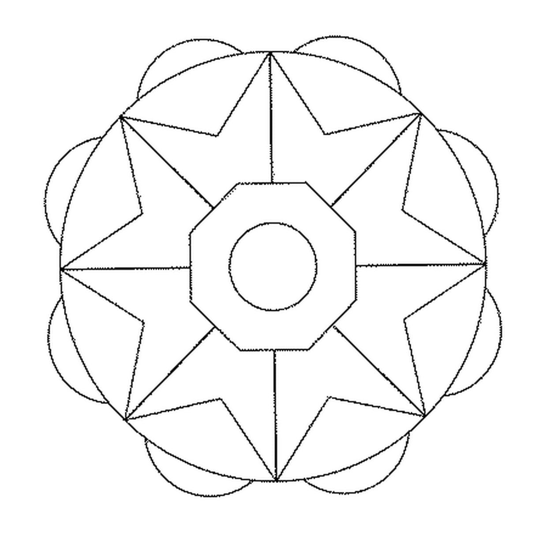 Coloriage Mandala Facile En Ligne Gratuit À Imprimer avec Mandala Facile À Imprimer