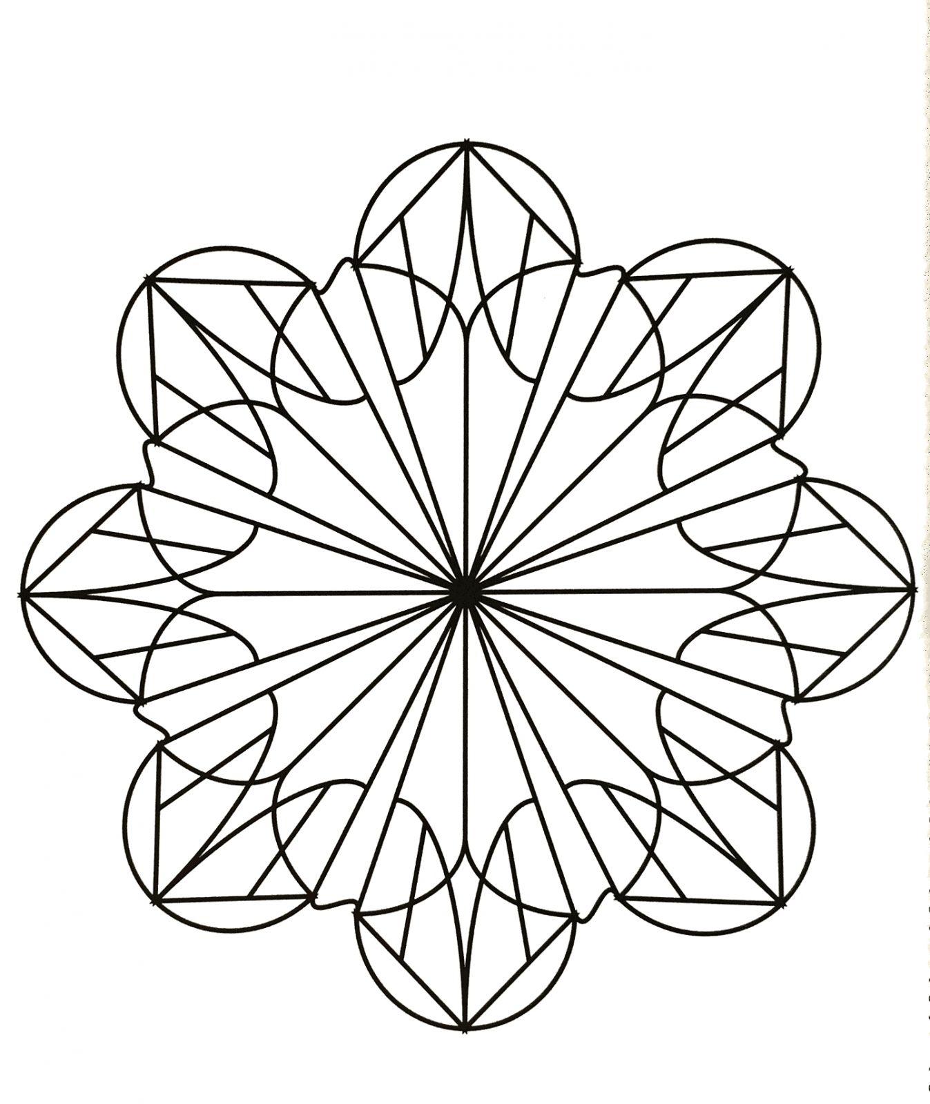 Coloriage Mandala Facile Fleur | Coloriages À Imprimer Gratuits serapportantà Mandala Facile À Imprimer
