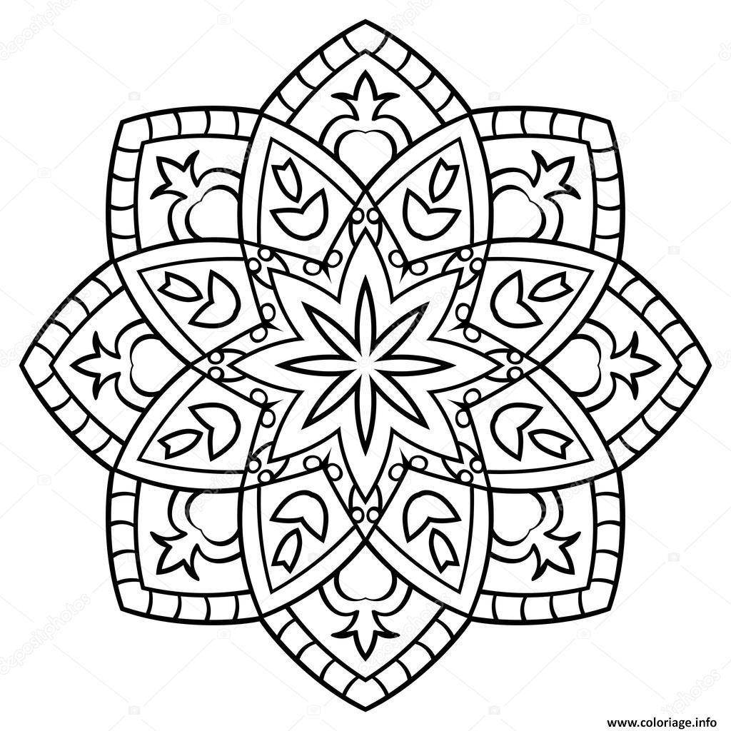 Coloriage Mandala Facile Gratuit | Coloriages À Imprimer serapportantà Mandala À Imprimer Facile