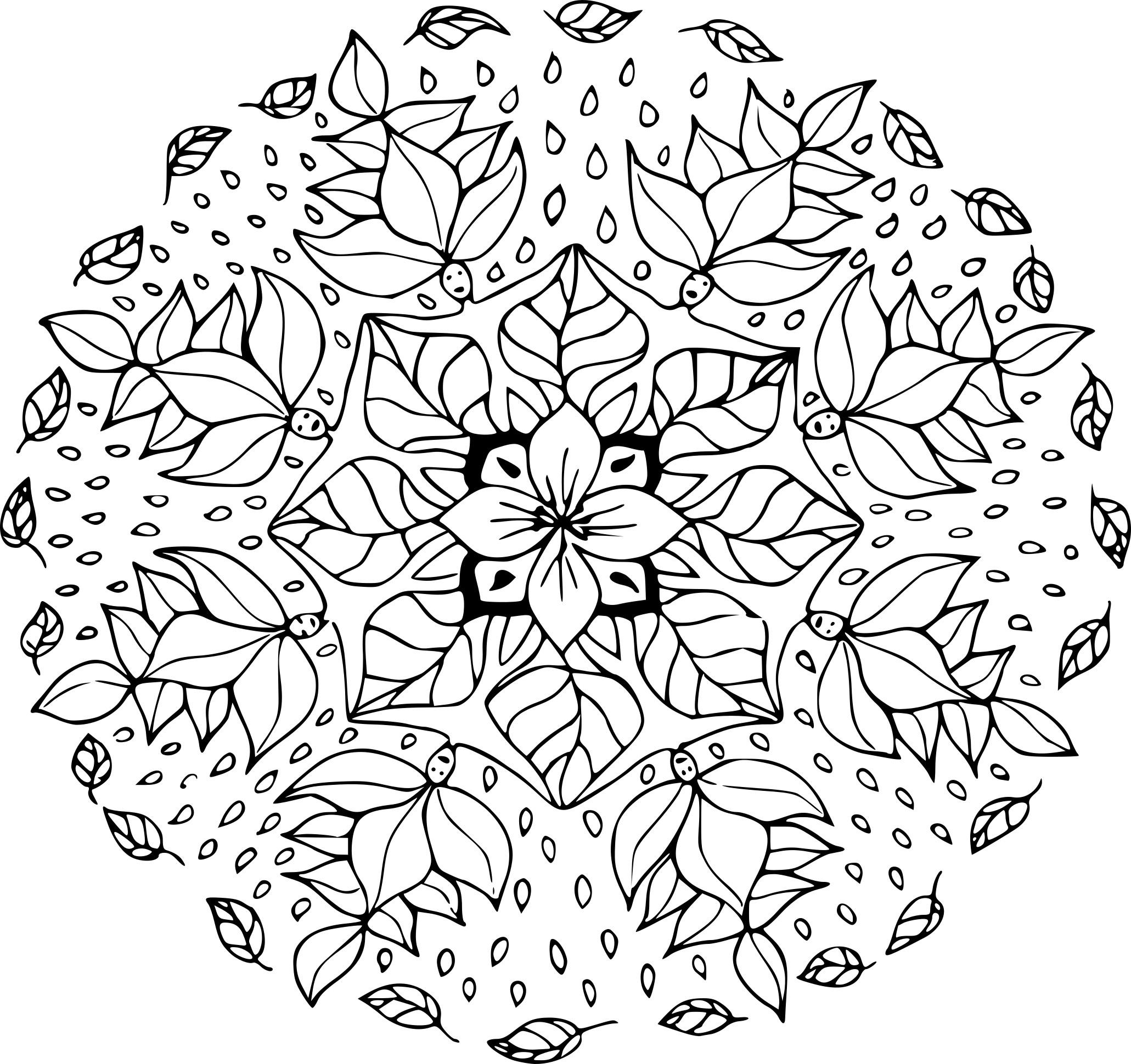 Coloriage Mandala Feuille D'automne À Imprimer Sur dedans Dessin De Feuille D Arbre À Imprimer