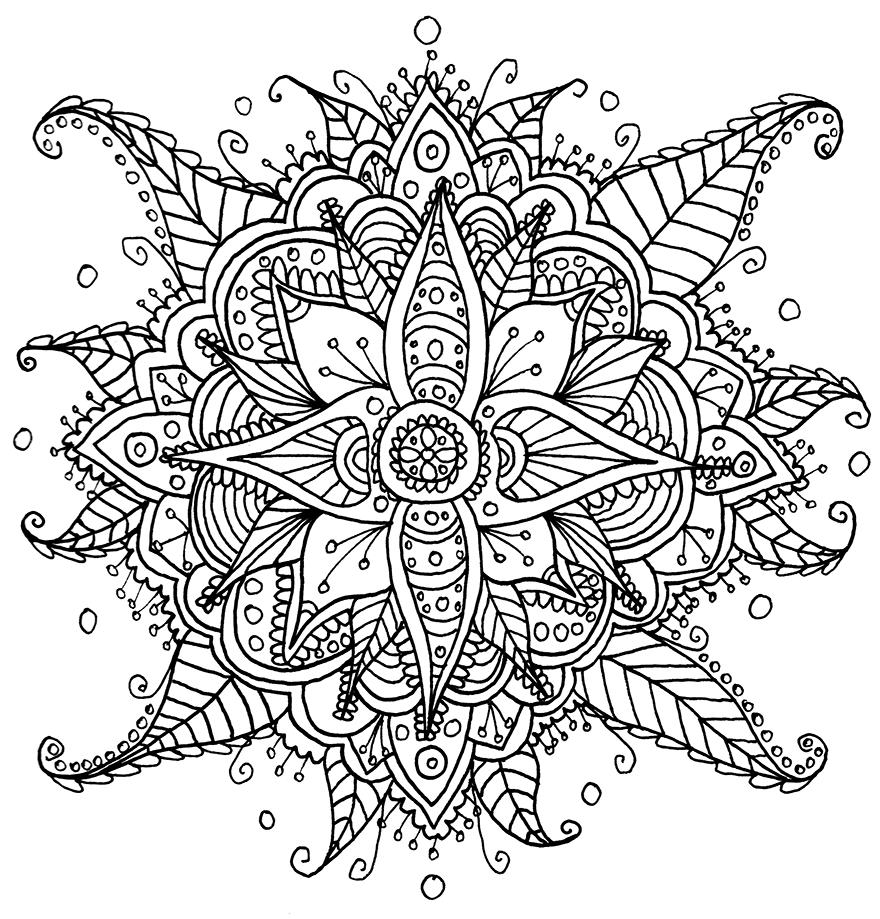 Coloriage Mandala Fleur Difficile À Imprimer serapportantà Coloriage De Mandala Difficile A Imprimer