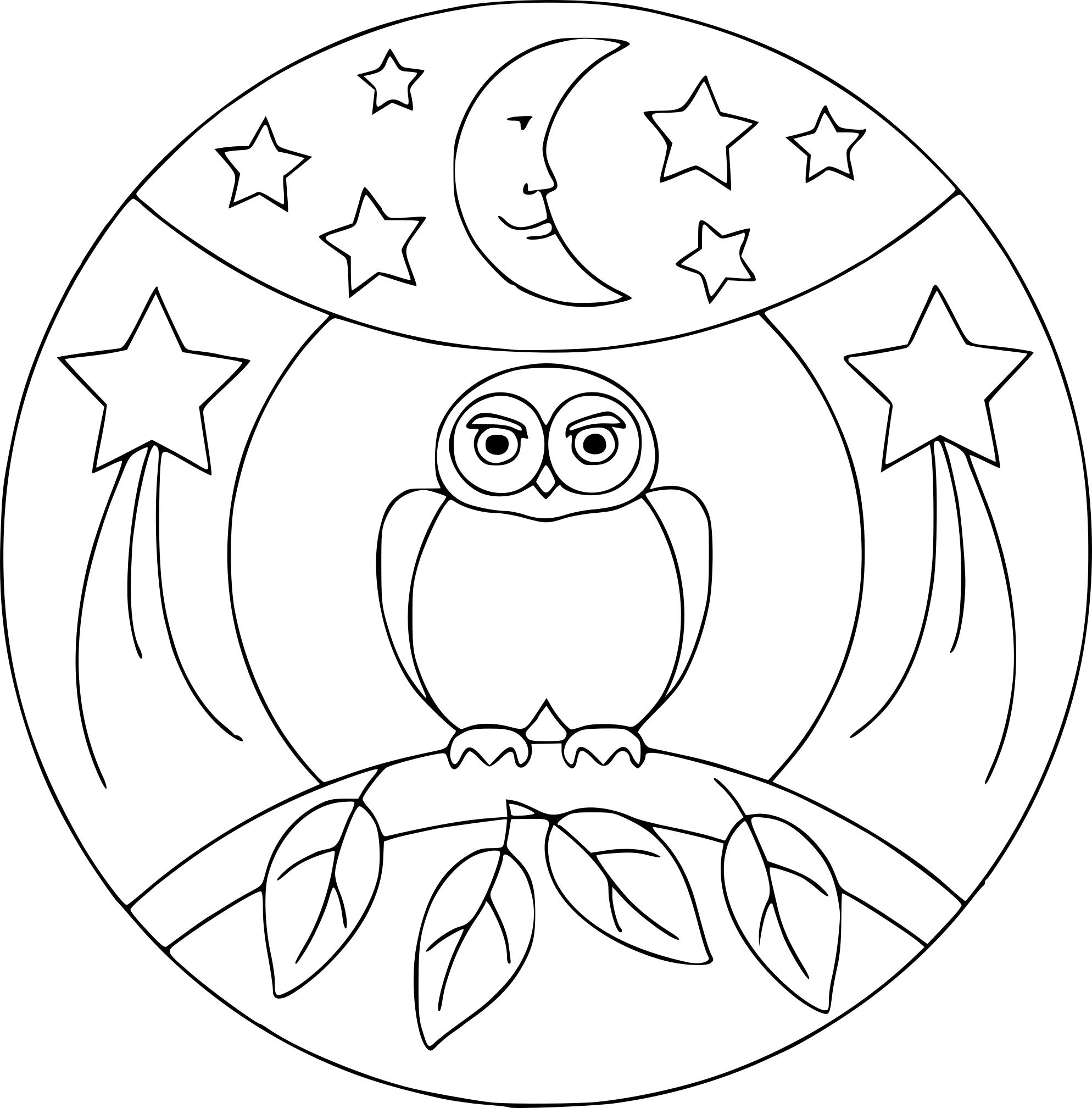 Coloriage Mandala Hibou À Imprimer tout Hibou A Imprimer