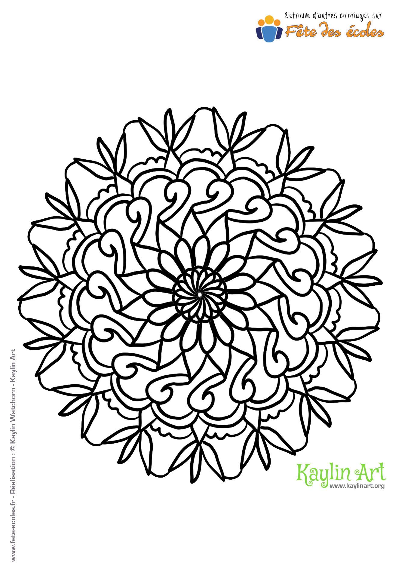 Coloriage Mandala Rosace serapportantà Jeux De Coloriage De Rosace