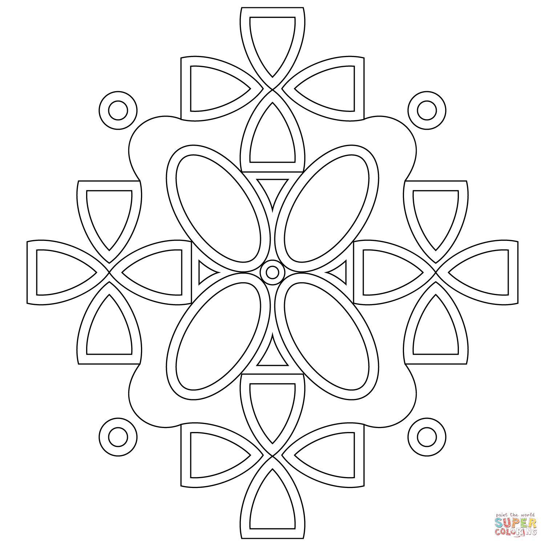 Coloriage - Mandala Symétrique | Coloriages À Imprimer Gratuits destiné Dessin Symétrique A Imprimer