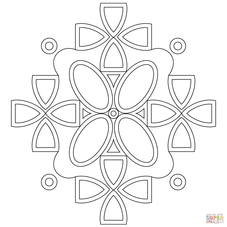 Coloriage - Mandala Symétrique | Coloriages À Imprimer Gratuits serapportantà Symétrie A Imprimer