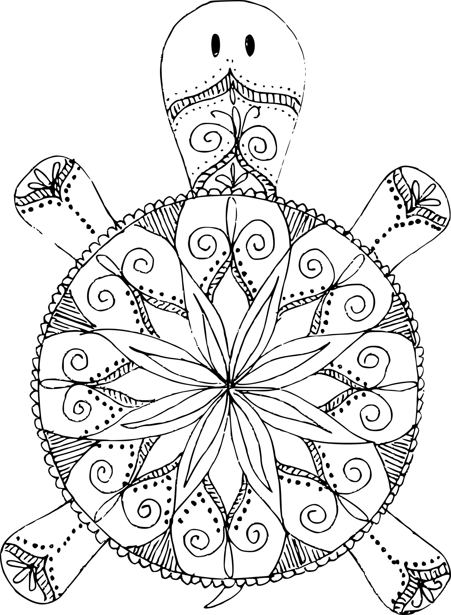 Coloriage Mandala Tortue À Imprimer avec Mandala À Imprimer Facile